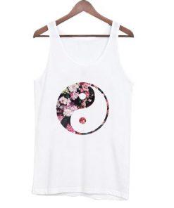 floral vintage yin yang tanktop