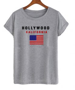 Hollywood california t shirt
