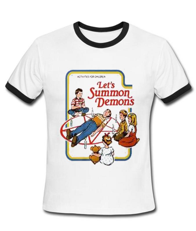 Activities For Children Let S Summon Demons Ringer T Shirt