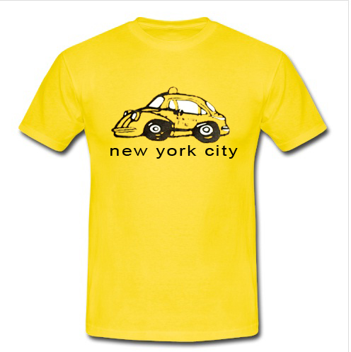 New York City Taxi Gold Yellow T Shirt