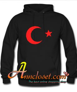 The Red Half Moon and Star Hoodie