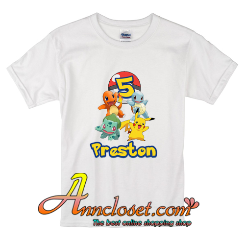 Pokemon Birthday Shirts For Kids T Shirt