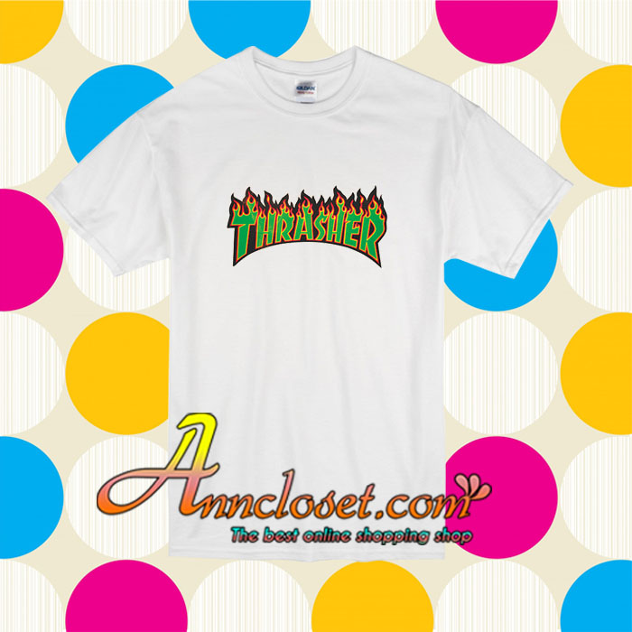 0869d61471d8 Thrasher Flame T Shirt ✓ T Shirt Istri