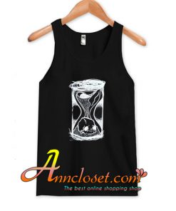 90s Grunge Gothic Vintage Hourglass Skull Black tank tops