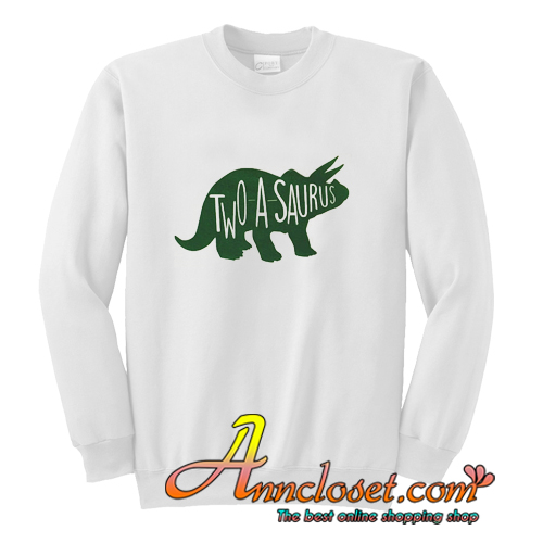 Twoasaurus Birthday Shirt Two Year Old Dino Sweatshirt