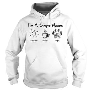 I'm a simple woman like sunshine coffee and dogs hoodie