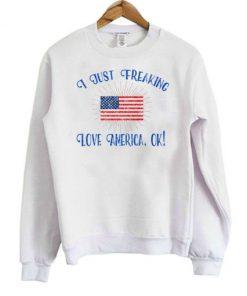 I Just Freaking Love America OK! Sweatshirt