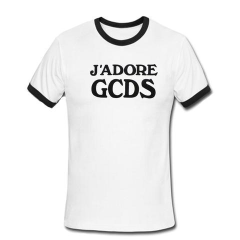 J'adore GCDS ringer shirt