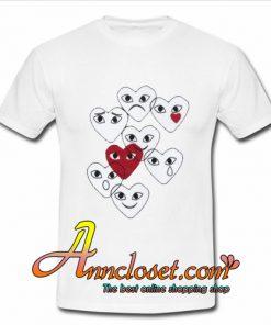 Comme des Garcons Play Emoji T-Shirt At