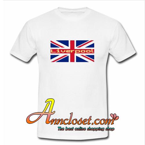 Liverpool Union Jack Flag Sticker Trending T-Shirt At
