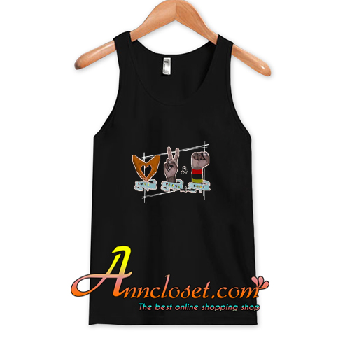 African American Love Peace & Soul Sign Tank Top At