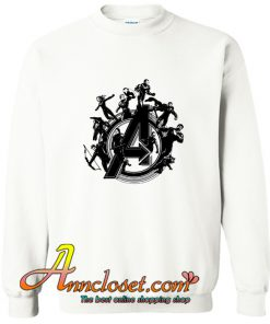 Avengers Endgame Hero Circle Sweatshirt At