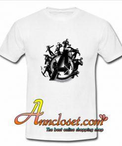 Avengers Endgame Hero Circle T Shirt At