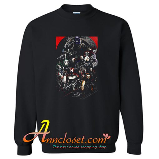 Marvel Avengers Endgame Poster Character Signature Sweatshirt At