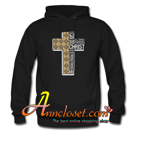 I Can Do All Things Through Christ Who Strengthens Me Cross Christmas Hoodie At