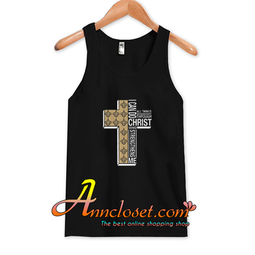 I Can Do All Things Through Christ Who Strengthens Me Cross Christmas Tank Top At