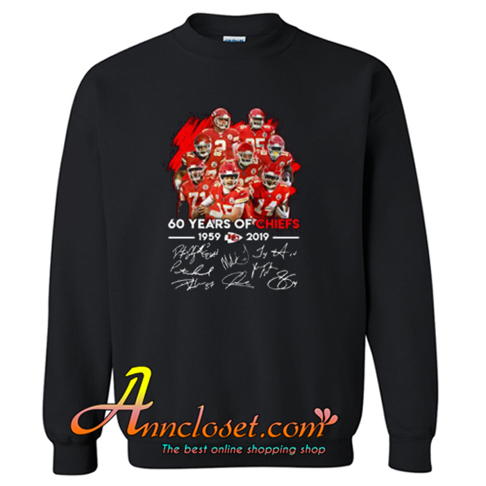 60 Years of Chiefs Signatures Sweatshirt At