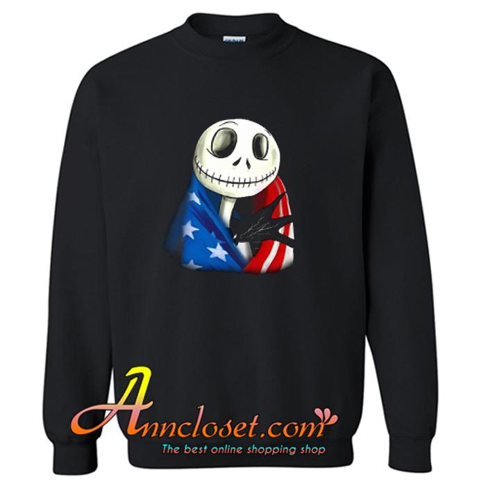 Jack Skellington American Flag Sweatshirt At