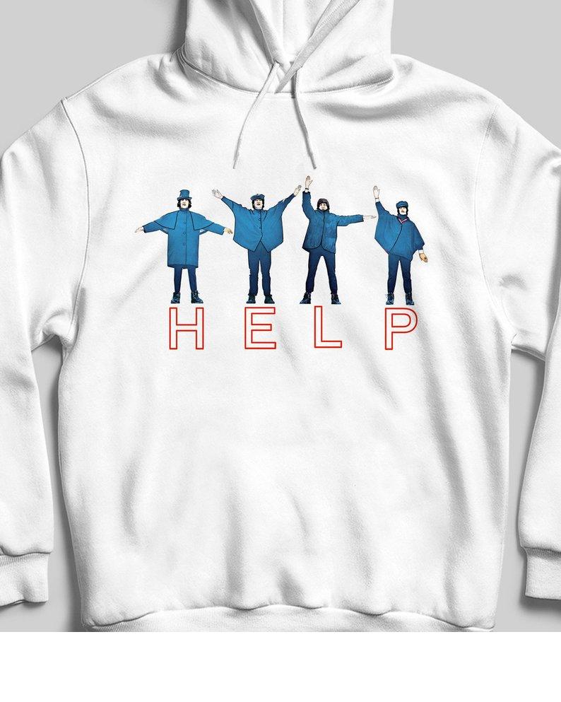 The Beatles Help Hoodie At
