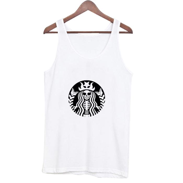 Starbucks Skeleton Tank Top At