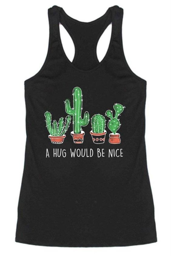 A Hug Would Be Nice Racerback Tank Top SFA