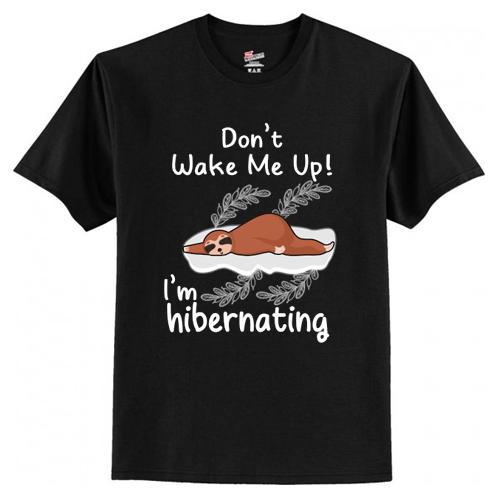 Don't Wake Me Up! I'm Hibernating Funny Sloth T-Shirt At