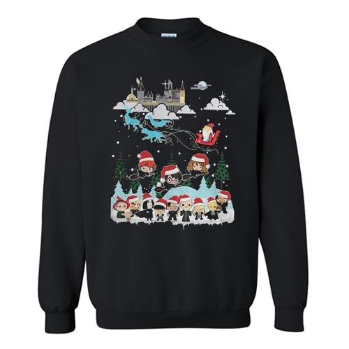 Harry Potter and Santa Claus Christmas Sweatshirt At