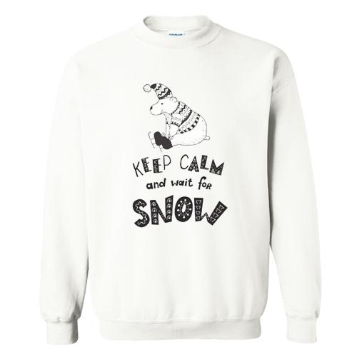 Keep clam and wait for snow Sweatshirt AI