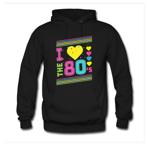Love The 80s Apparel Disco Hoodie At