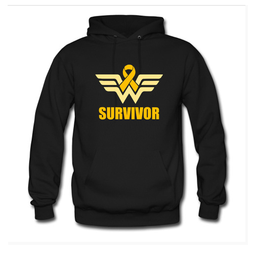 Wonder Woman Appendix Cancer Survivor Hoodie At