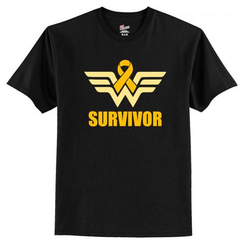 Wonder Woman Appendix Cancer Survivor T-Shirt At