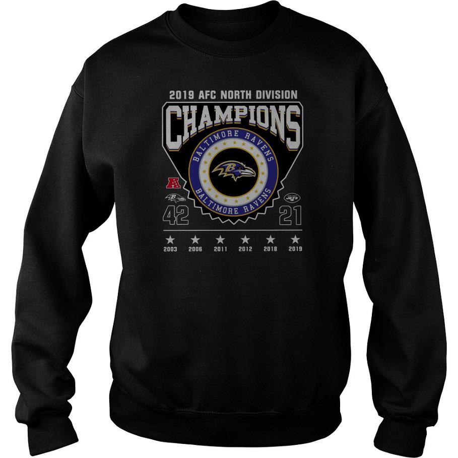 2019 Afc North Division Champions Baltimore Ravens Sweatshirt SFA