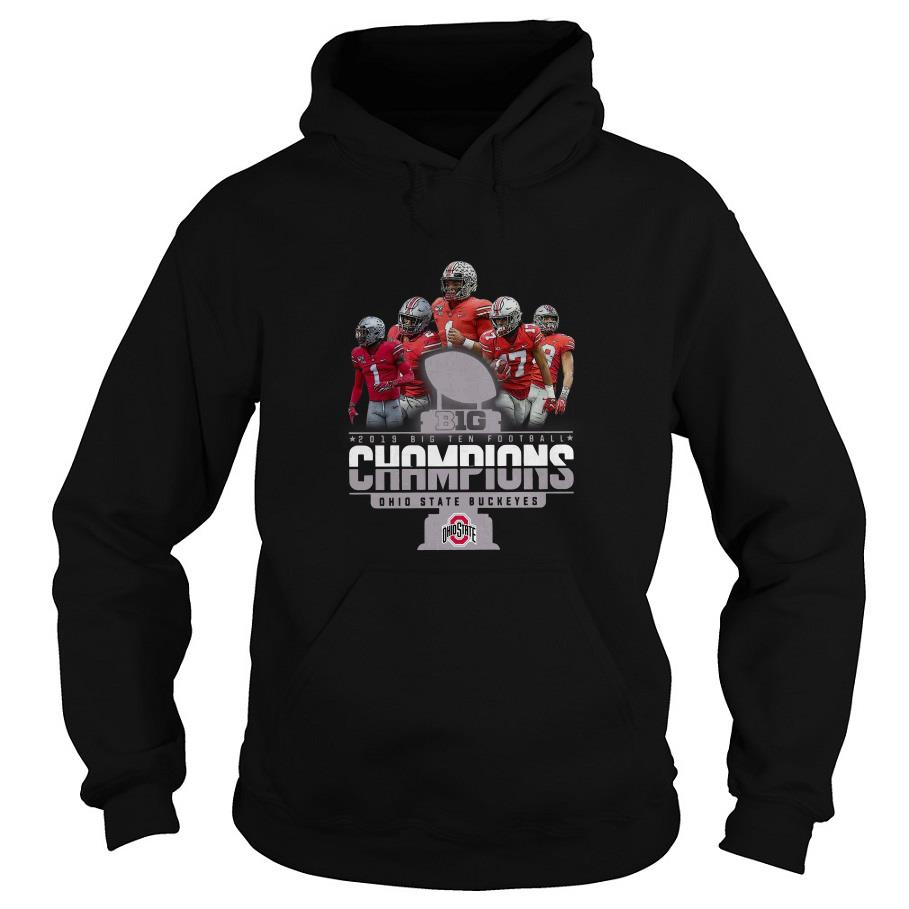 2019 Big Ten Football Champions Ohio State Buckeyes Hoodie SFA