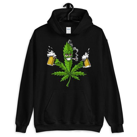 Weed Leaf Beer Hoodie SFA