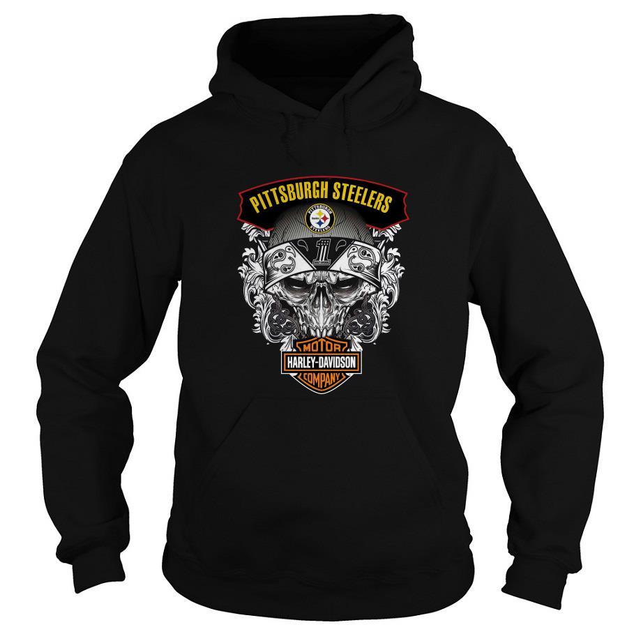 Pittsburgh Steelers Motor Harley Davidson Company Hoodie SFA