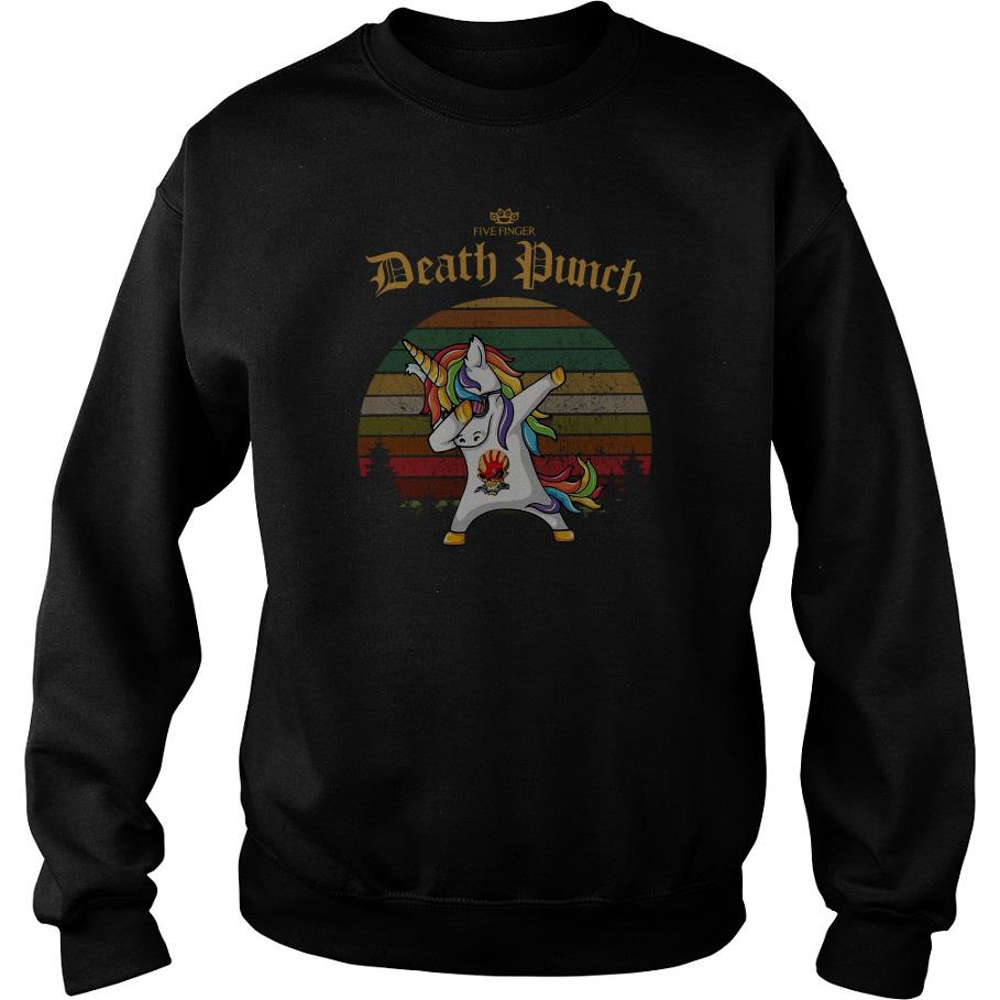 Unicorn Dabbing Five Finger Death Punch Vintage Sweatshirt SFA