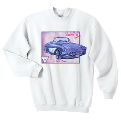 1960 corvette convertible sweatshirt F07