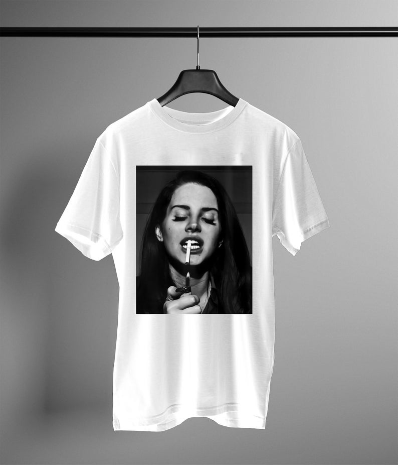 lana del rey smoke t shirt NA