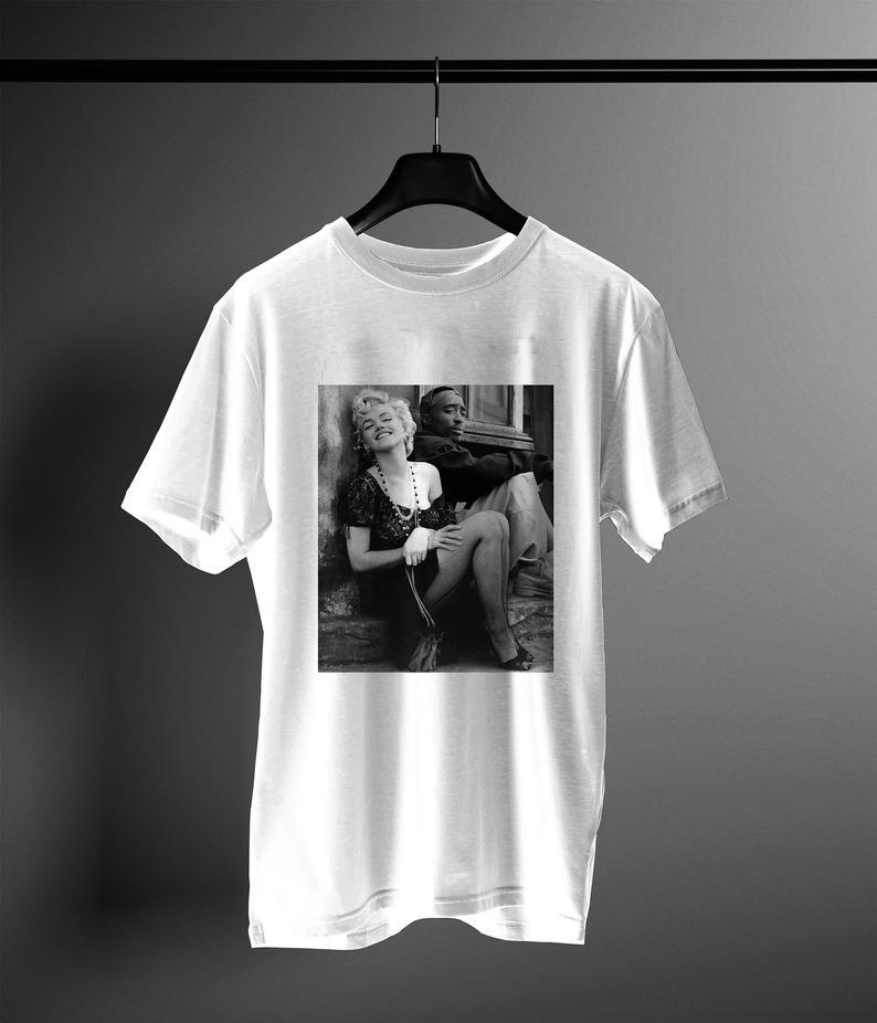 marilyn monroe & tupac t shirt NA